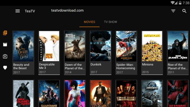 applications de films