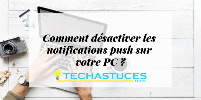 désactiver les notifications push