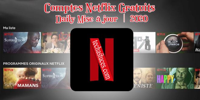 Comptes Netflix Gratuits Août 2021 | Mise à jour