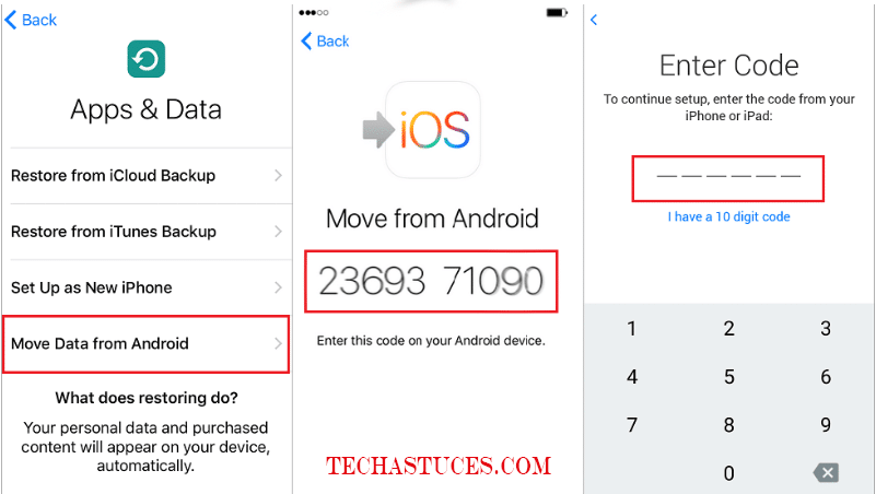 transférer vos données d'Android vers iPhone