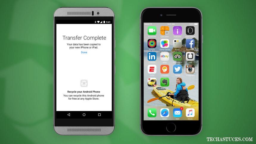 transférer vos données d'Android vers un iPhone